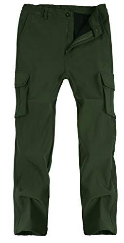 Singbring Men's Outdoor Waterproof Hiking Pants Windproof Ski Pants X-Large Black(04F)