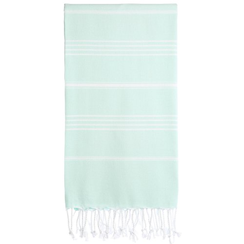 Cacala Turkish Bath Large Luxury Beach Highly Absorbent Quick and Easy Dry Soft and Comfortable Shower Towels for Bathroom, Spa, Pool 100% Organic Cotton Pure Series, 37 x 70, Aquamarine