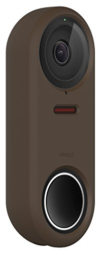 elago Silicone Case Designed for Google Nest Hello Doorbell Cover (Dark Brown) - Full Cover Protection, Night Vision Compatible, Durable Material, UV Light Resistant, Easy To Install [Patent Pending]