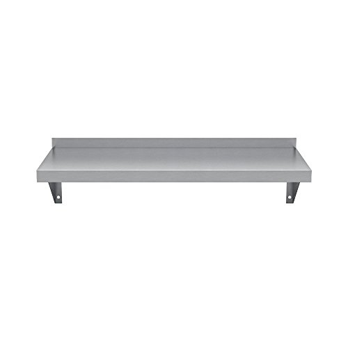 """Elkay Professional Series NSF Stainless Steel Wall Shelf with Backsplash Without Mounting Hardware, 48"""" x 12"""""""