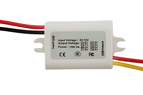 12V to 5V 3A Step-Down Waterproof Miniature DC-DC Converter Power Supply Module