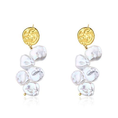Pendientes Pendientes de boda de la perla cuelga los pendientes de la perla barroco único de los pendientes naturales de temperamento larga adecuados for la velada, banquetes o el desgaste diario Aret