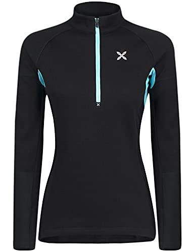 MONTURA thermic MMZP59W 9029 - Camiseta técnica de mujer para actividades al aire libre como senderismo, escalada, alpinismo, esquí y alpinismo, Negro , S