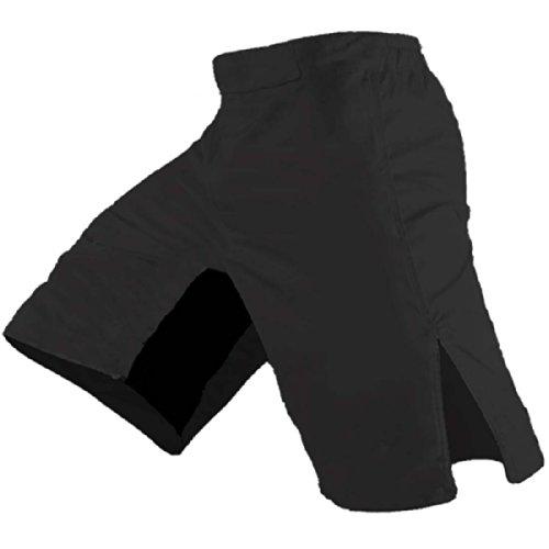 Quality MMA Shorts - Blank No Logo (36, Black)
