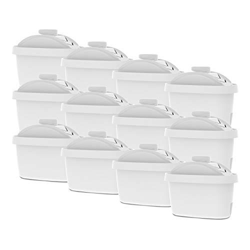 AquaCrest AQK-07+ - Filtro de repuesto para jarra de agua Brita Maxtra/Maxtra+, Mavea, Dafi Unimax, Aquaphor Maxper, AmazonBasics, PearlCo Unimax, Aluna Cool, Lauson AWF102