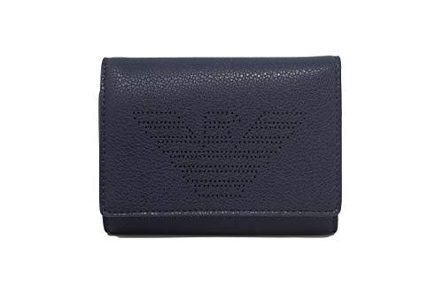 Cartera Emporio Armani Sunrie Leather Goods Negro/Azul