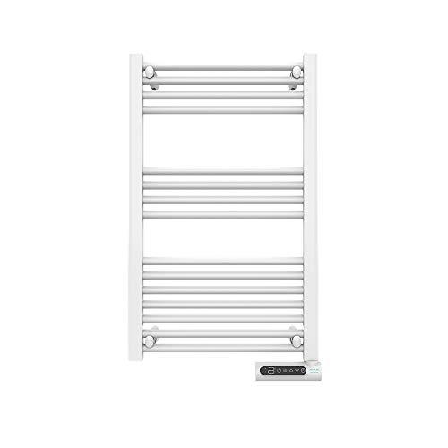 Cecotec Radiador Toallero Eléctrico Bajo Consumo Ready Warm 9100 Smart Towel White 500 W, Pantalla LED, Control táctil, Temporizador, 3 Modos de Funcionamiento, 2 Sistemas de Seguridad