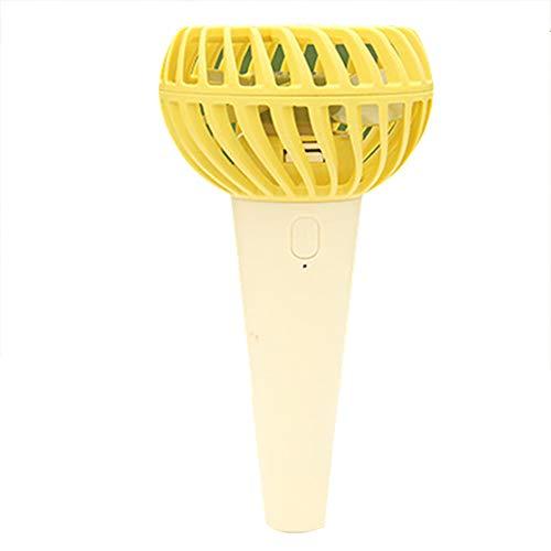 Ynnxia Kreative Mikrofon-Eiscreme-Styling Aufladen Kleiner Fan Schlafsaal Studenten tragen tragbare Mini-Fan EIN einfaches Design Reisen Dual-Use-Fan Gelb