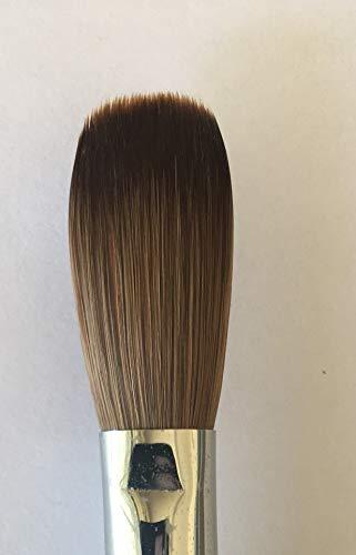 Six Angles - CRIMPED - Black Handle Petal 100% Kolinsky Acrylic Nail Brush (Crimped 22)