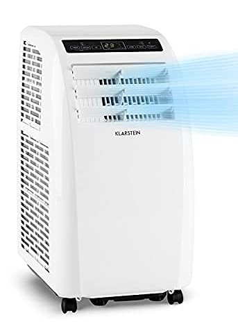 KLARSTEIN Metrobreeze Rom Smart - climatiseur mobile, déshumidificateur, ventilateur, WiFi: contrôle par application, CEE A +, minuterie, télécommande, 10000 BTU / 3,0 kW - blanc