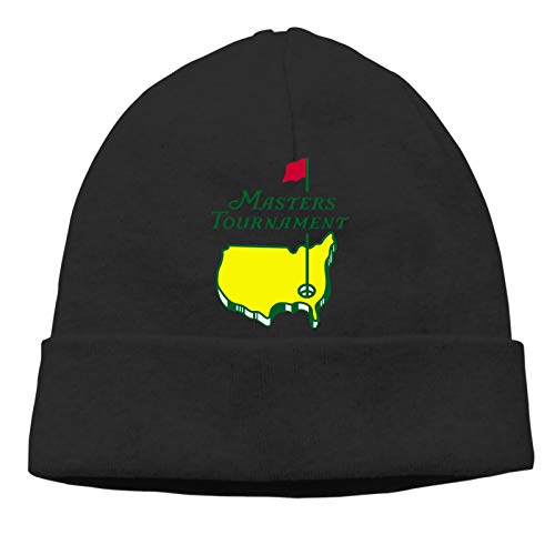 QIKING Masters Tournament Augusta Logo Before Christmas Men's Knitted Beanie Knit Hat Fashion Winter Hats for Men Black