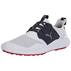 PUMA mens Ignite Nxt Lace Golf Shoe, Puma White-puma Silver-peacoat, 11.5 US