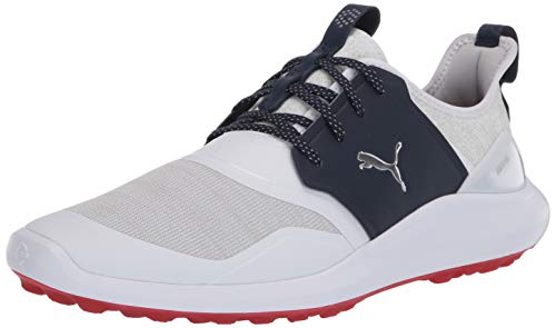 Puma Golf Men#039s Ignite Nxt Lace Golf Shoe Puma Whitepuma SilverPeacoat 85 M US