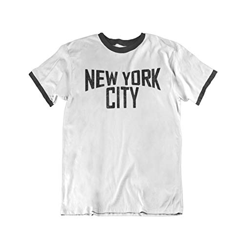 New York City Mens Ringer T-Shirt Camiseta para Hombre Retro Style