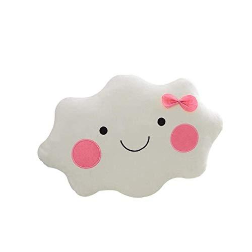 hjj Sonriente Cara Nube cojín Almohada Suave Peluche Siesta Almohada Relleno Juguete decoración Nube cojín Almohada jianyou