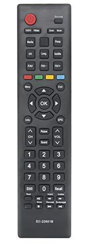 ALLIMITY ER-22601B Control Remoto reemplazado por Hisense TV H32MEC2150S H39A5100 H49N2100S LHD32D50TS LHD24D33NSEU H49M2100S...