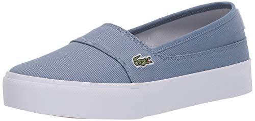 Lacoste Women's Marice Plus Grand 1201CFA Sneaker, Light Blue/White, 7 Medium US