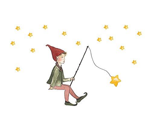 TinyFoxes KG Wandtattoo Sternenwichtel mit weißer Wichteltür fürs Kinderzimmer