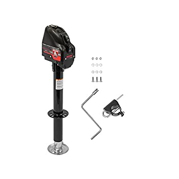 Bulldog 500199 Powered Drive A-Frame Tongue Jack with Spring Loaded Pull Pin - 4000 lb Capacity  Black Cover