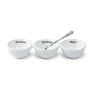 Mud Pie Circa Triple Relish Set, White