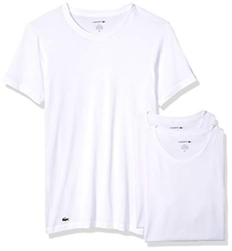 Lacoste Herren Men's Slim Fit Cotton Crew Neck Tee, 3 Pk Unterwäsche, Farbe: Weiß, Groß