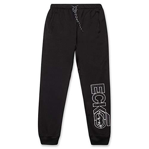 Men's Sweatpants by ECKO - Fleece Mens Joggers Sweatpants with Pockets Black Large