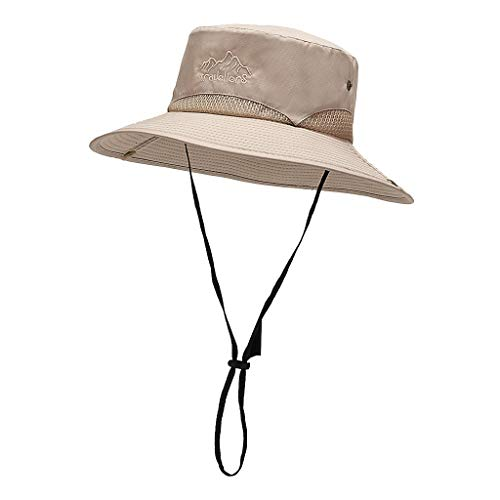 Amazing Deal Toimothcn Sun Hat for Men, Sun Protection Wide Brim Bucket Hat Packable Boonie Hat for ...