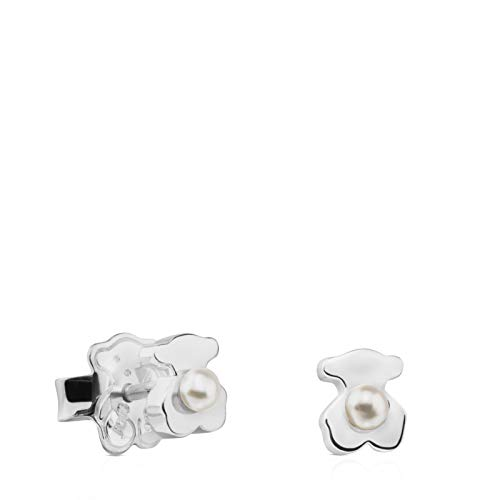 Pendientes Super Power de Plata con Perla