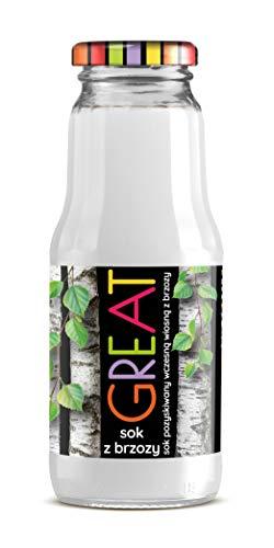 GREAT - Birkensaft 100% 0,3 l nicht konzentrierter Saft, natürlich und vegan Hoher Vitamin C-Gehalt Zuckerfreie 15er Packung (15 x 300 ml)