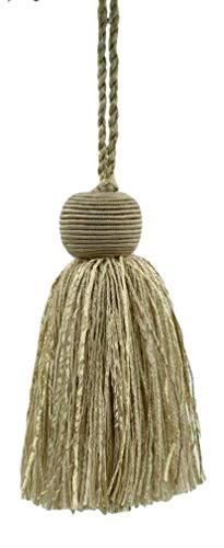 DecoPro décoratifs 10 cm Tassel|Oatmeal, Grain, foncé, Sable, Sandstone|Veranda Collection|Style # VTS|Color : Champignon Beige – Vnt3, Vendu à l'unité