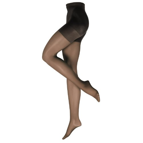 Nur Die Damen Strumpfhose figurunterstützend 719171/Bauch-Beine-Po, Gr. 38/40 (38-40/S), schwarz (schwarz 094)