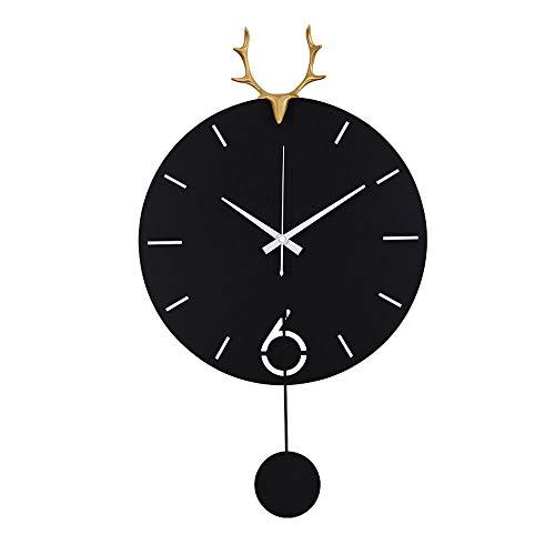 CHANGJ Reloj De ParedReloj Diámetro19 Pulgadas Color NegroEtiqueta De Pared Decoración Ideal para La Casa Oficina Hotel RestauranteLos Relojes De Pared (Size : Black(23 Inches))