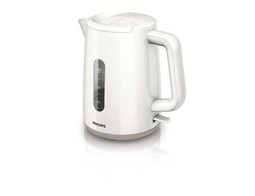 Philips HD9300/00 - Hervidor 1,5 litros blanca y beige, 2400W, sistema de seguridad de...