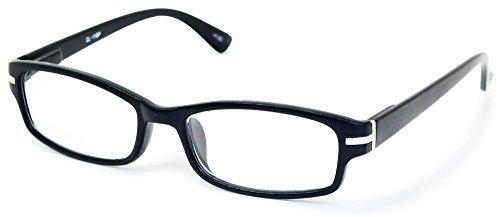 藤田光学 老眼鏡 メンズ 2.0 度数 プラスチックフレーム バネ蝶番 マットブラック CL-11+2.00