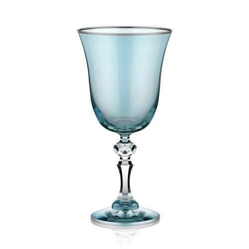 Koleksiyon Copas azules con borde platino, 260 ml, juego de 6