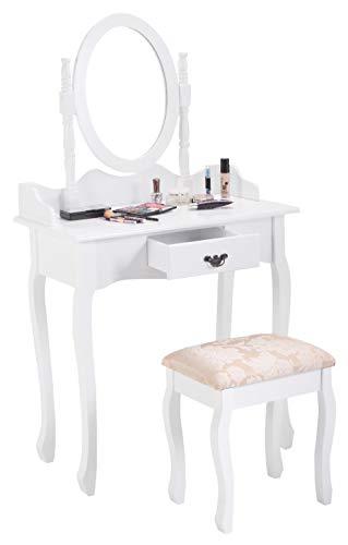Bathroom Vanity, Vanity Makeup Dressing Table Stool Set, White