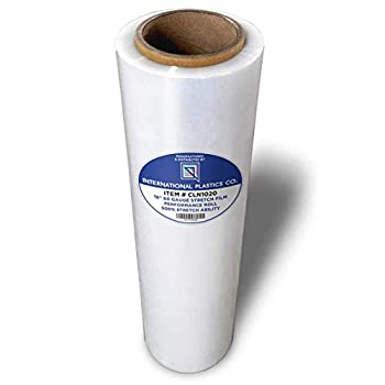 18  Stretch Film/Wrap 1200ft 500% Stretch Clear Cling Durable Adhering Packing Moving Packaging Heavy Duty Shrink Film  1 Pack Clear
