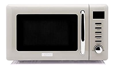 Haden Retro Microwave with Settings and Timer, 700-Watt .7 cubic foot, in Putty