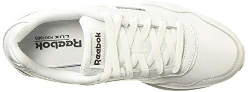 Reebok Royal Glide LX, Zapatillas Mujer, Multicolor (Blanco/Negro/Blanco), 38 EU