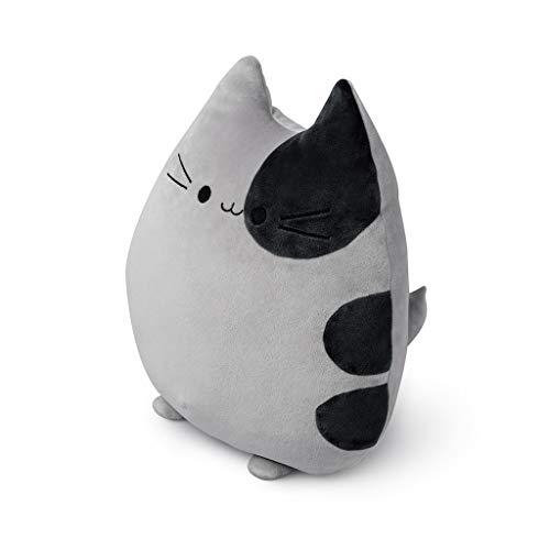 balvi Kissen Sweet Kitty Grau In Katzenform Flauschig und weich Polyester