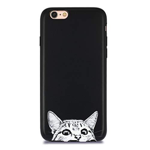 iPhone 6S Case for Girls/iPhone 6 Cute Cat Case, GOLINK Cute Slim-Fit Ultra-Thin Anti-Scratch Shock Proof Dust Proof Anti-Finger Print TPU Case for iPhone 6/6S - Cat