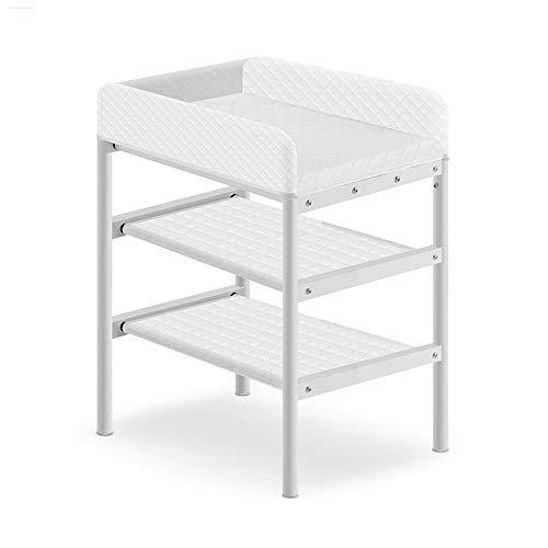 ZCF table à langer bébé Table À Langer for Bébé, Ensembles À Langer for Couches, Espace Facile À Assembler, Commode for Tout-Petit, 0-3 Ans - Blanc, Gris (Color : White)