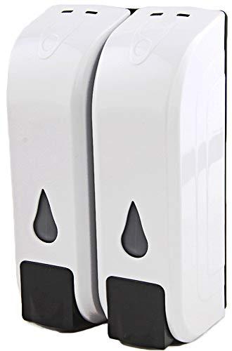 Lvozize Dispensador de Desinfectante Manos, 2x350ML Dispensador Jabón Dispensador de Gel de Ducha para Baño Cocina Pared (2pack)