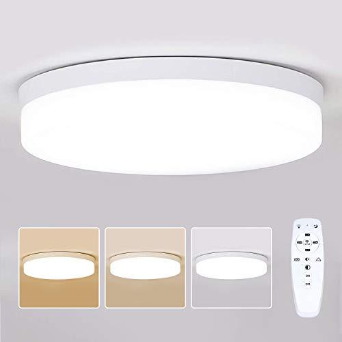 Combuh LED Deckenleuchte mit Fernbedienung 36W Dimmbar (2700K-6500K)Moderne Smart Lichtfarbe und Helligkeit einstellbar Deckenlampe für Küche, Schlafzimmer, Wohnzimmer, Büro Φ30cm