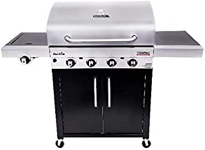 Char-Broil 463280419 Performance TRU-Infrared 4-Burner Cabinet Style Gas Grill, Stainless/Black