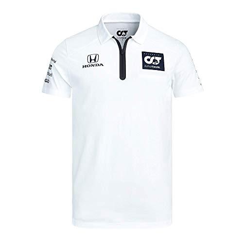 [ ALPHA TAURI ] 2020 スクーデリア アルファタウリ ホンダ F1 Racing Team オフィシャル レプリカポロシャツ (L身幅54cm着丈74cm, ホワイト)