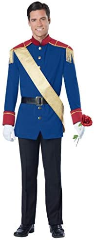 Toy Soldier Mens Fancy Dress Costume Adults Handsome Prince Charming Outfit