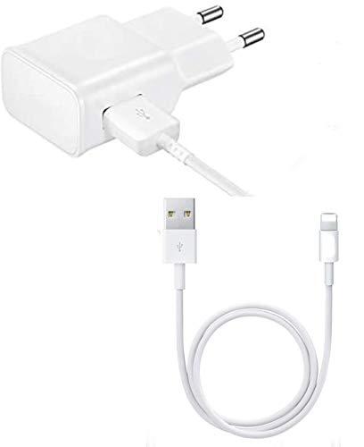 Little Boutik - Cargador de pared (2 A, incluye cable USB Lightning para iPhone 5, 5S, 6, 6S, 6 Plus, 6S Plus, 7, 7 Plus, 8, 8 Plus, X, XS, XR, XS)