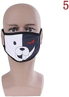 PKRISD 1PCS Black Cartoon Anime Kpop Mouth Mask Half Face Soft Anti-Fog Anti-dust Masks Cotton Dustproof Mouth Face Mask Woman Men