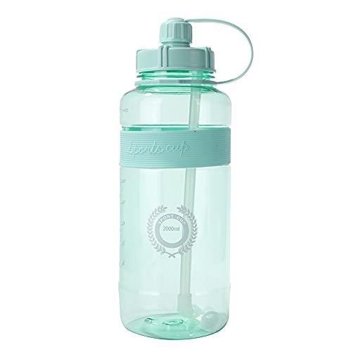 OKESYO Botella de agua para deporte, sin BPA, de plástico con filtro, para escuela, niños, bicicleta, yoga, gimnasio, al aire libre